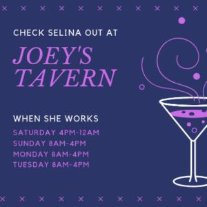 Selina-schedule-Joey's-tavern