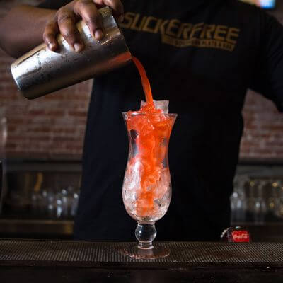 Suckerfree Southern Plate and Bar San Diego Gas Lamp drink