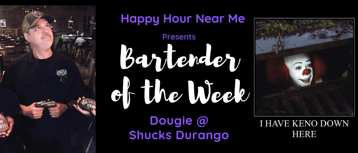 Bartender of the Week Dougie at Shucks