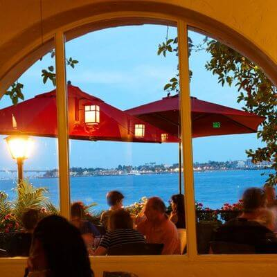 Edgewater Grill San Diego Window