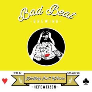 Bad Beat Brewing Hefeweizen craft beer