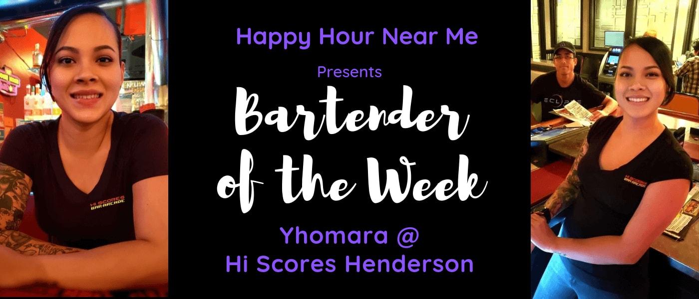 Bartender of the Week Yhomara at Hi Scores