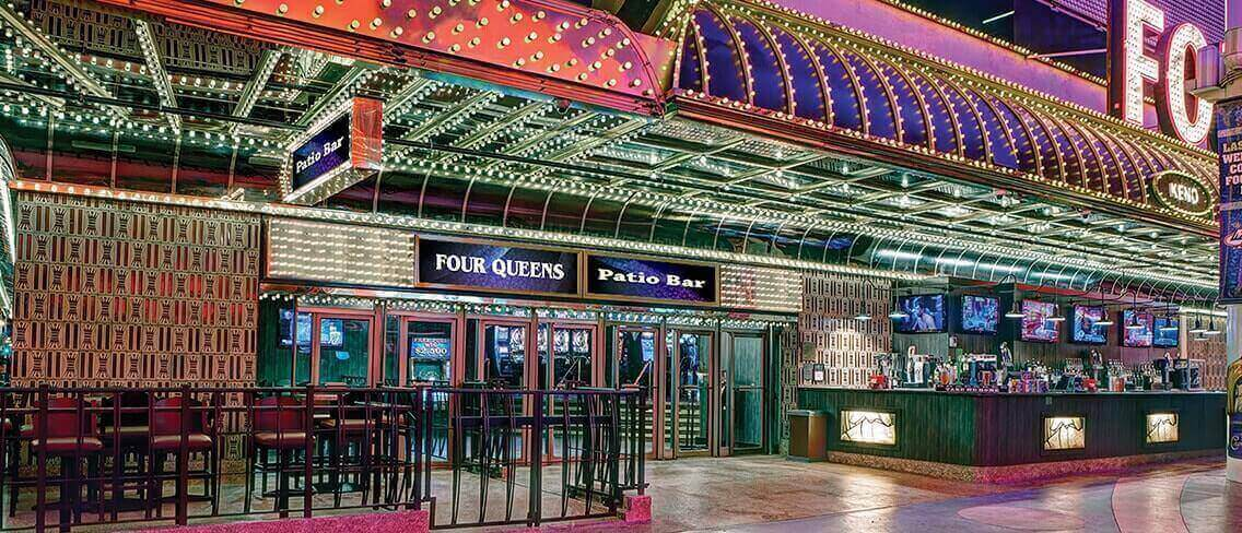 Four Queens Patio Bar Downtown Las Vegas